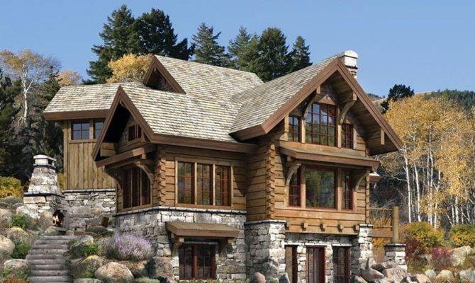 Stone Log House Plans Joy Studio Design