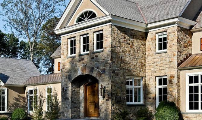 Stone Stucco House New Homes