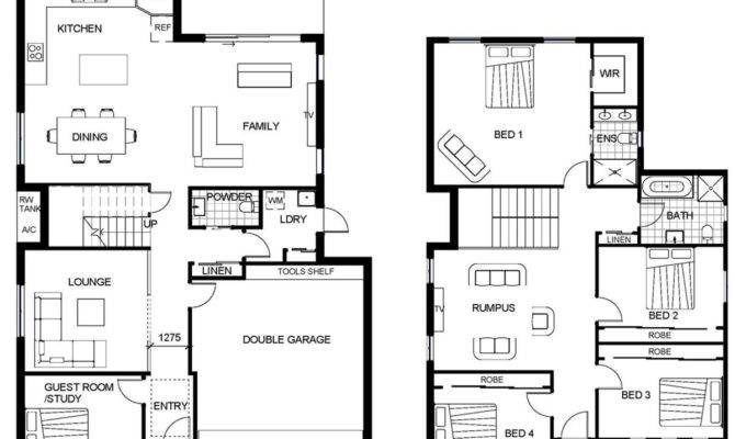 Storey House Designs Floor Plans Ground Study