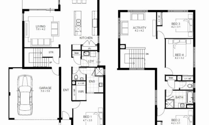 Storey House Plans Narrow Blocks Ideas
