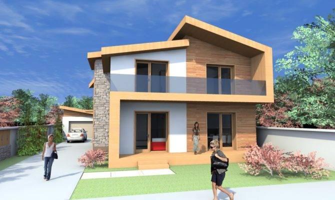Storey Modern House Plans Gable Roof Plan