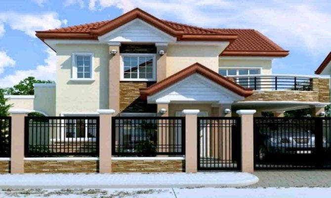 Storey Modern Small Houses Gate Philippines