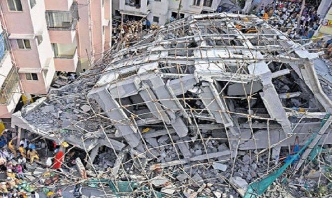 Storey Under Construction Building Crashed Bellandur Yesterday