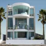 Story Beach House Plans Modern Three