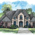 Story Bedroom French Country House Plan Plans Floor