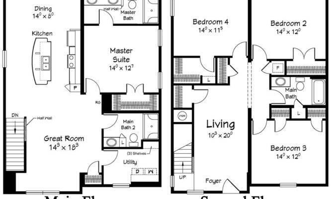 Story Coastal Floor Plans House