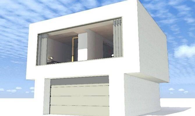 Story Contemporary Modern Plans Garage Plan Floorplans