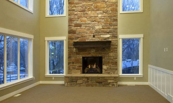 Story Fireplace Home Design Ideas Remodel