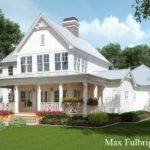 Story House Plan Covered Front Porch