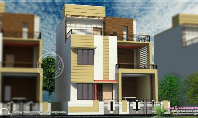 Story House Plan Design Feet Home Kerala Plans