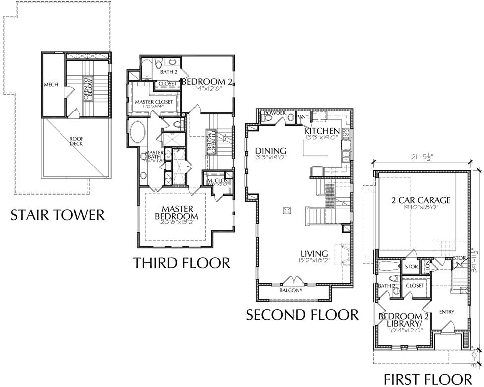 Story House Plans Roof Deck Galleries Imagekb Home Plans Blueprints 55876