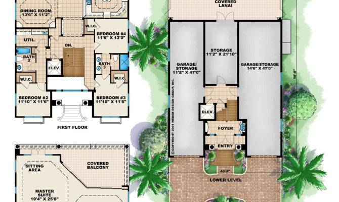 Story Narrow Lot Home Floor Plans Pinterest Traditional