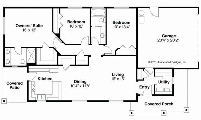 Story Rectangular House Plans Lovely Small Ranch Floor