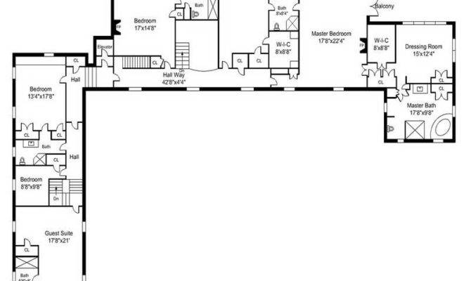 Story Shaped Ranch House Plans Plan Garage