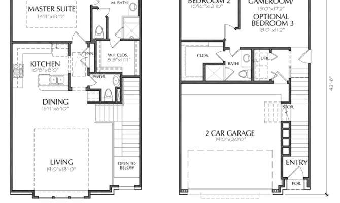 Story Townhouse Floor Plan Sale