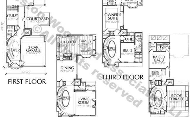 Story Townhouse Floor Plans Sale