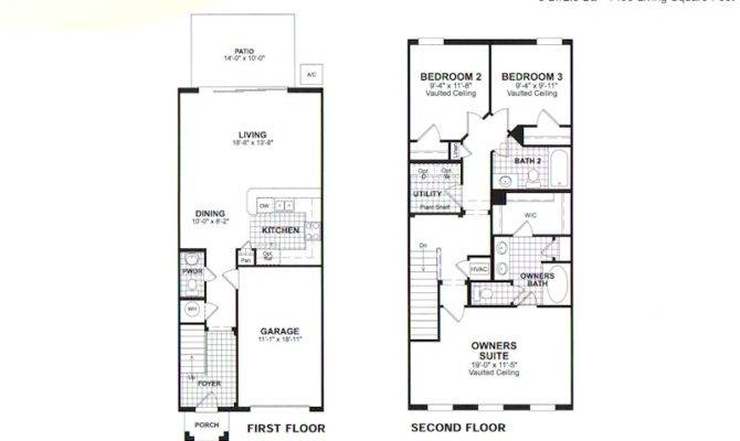 Story Townhouse Floor Plans Stories Plan
