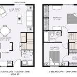 Story Townhouse Plans Narrow Furthermore Bedroom Floor