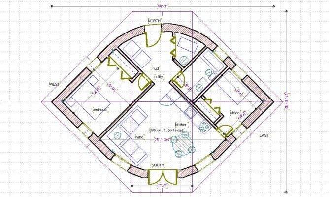 Straw Bale House Plan Eye Shape