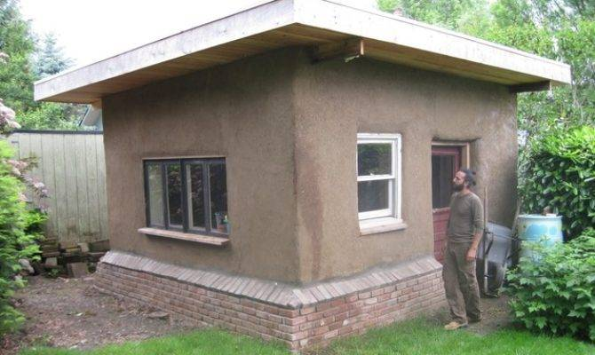 Straw Bale Shed Exterior Portland Earthen Hand