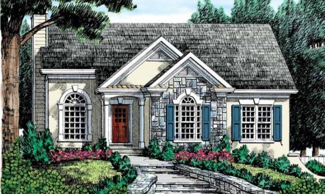 Stucco Stone Exterior Hwbdo Cottage Builderhouseplans