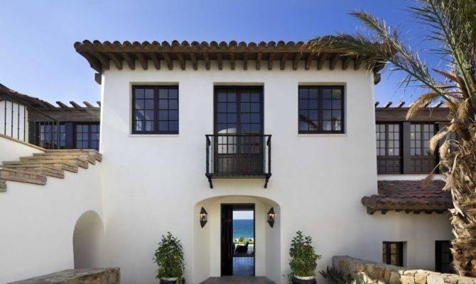 Stucco Windows Exterior Mediterranean Old Spanish