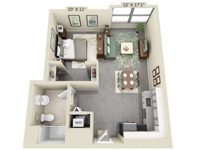 Studio Apartment Floor Plans Home Plans Blueprints 156231