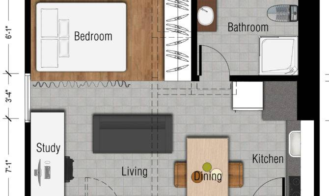 Studio Floor Plan Apartment