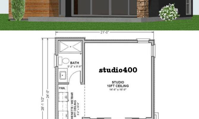 Studio Tiny Guest House Plan Custom Contemporary