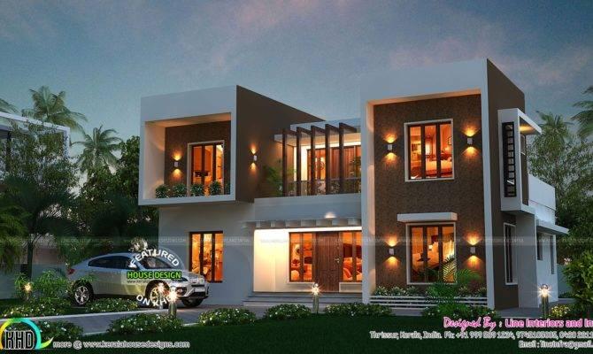 Stunning Box Type Home Kerala Design Floor Plans
