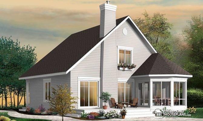 Stunning Frame Bedroom Cottage House Plan Drummond