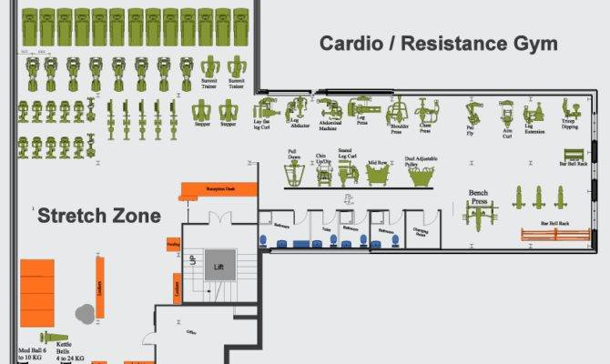 Stunning Gym Floor Plan Layout Home Building Plans