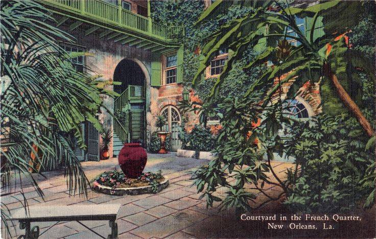 Style Courtyards French Quarter Courtyard Listed