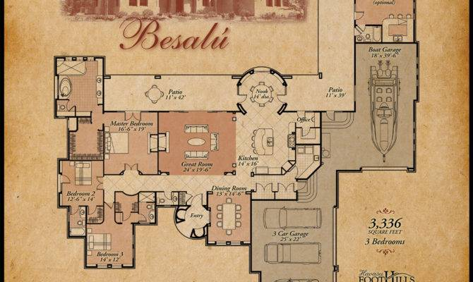 Style House Plans Mexican Hacienda