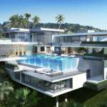 Style Multi Million Back Two Modern Mansions