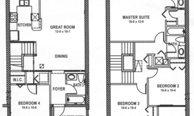 Stylish Bedrooms Upstairs House Plans Plan