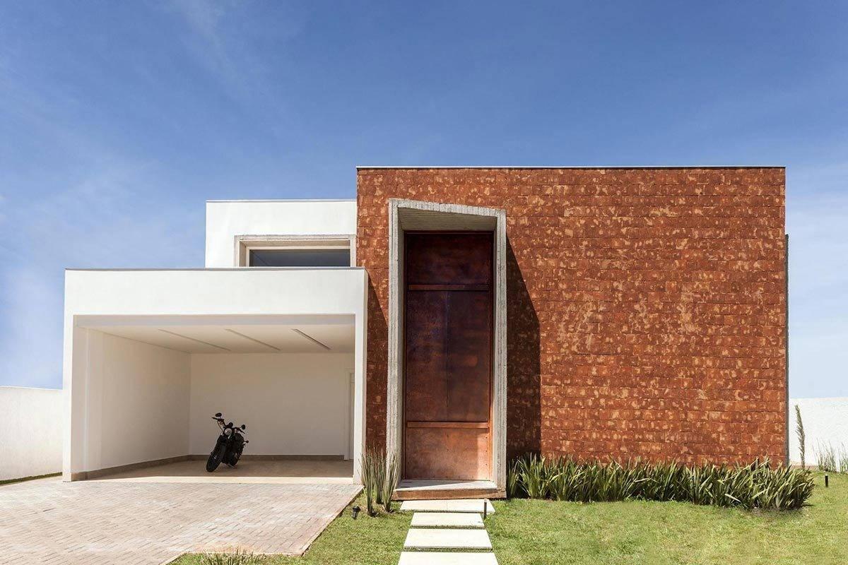 Stylish Minimalist Home Modern Garage Also Brick
