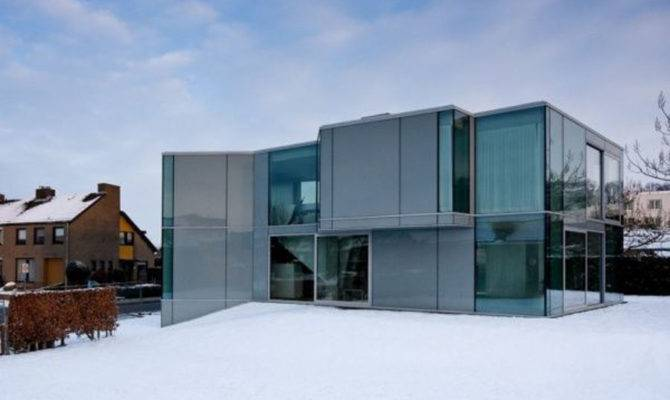 Substitute Wall Modern Glass House Designed