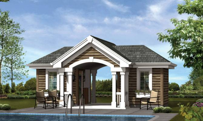 Summersun Pool Pavilion Plan House Plans More