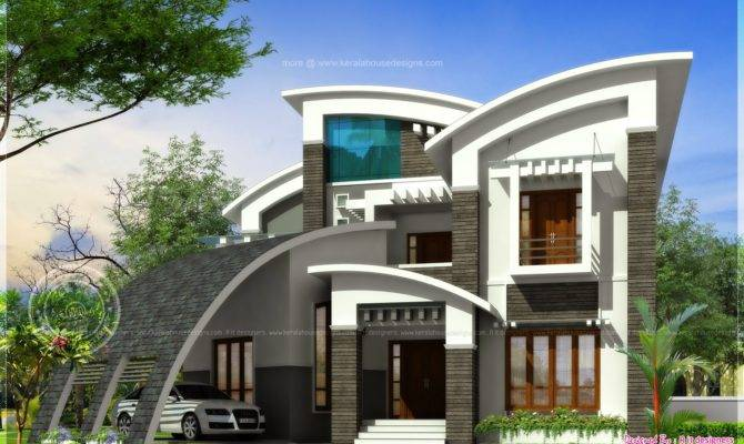 Super Luxury Ultra Modern House Design Kerala Home Floor