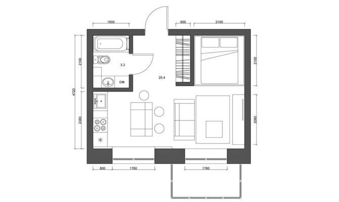 Super Tiny Apartments Under Square Meters Includes