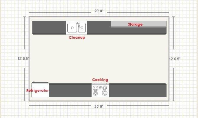 Surprisingly Galley Kitchen Floor Plan Architecture