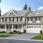 Suson Oak Colonial Home Plan House Plans More