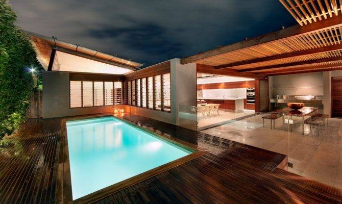 Sydney Entertainment Area Pool Contemporary Covered