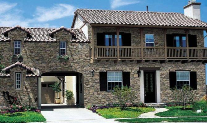 Synthetic Rock Siding Ranch House