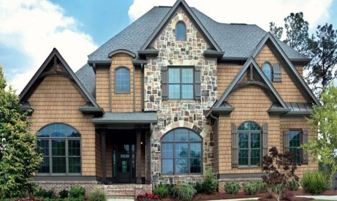 Synthetic Stone Siding New Houses Brick