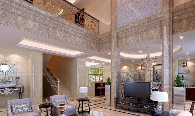 Table Living Room Design Luxury Villa Interior