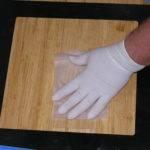 Taking Dust Wipe Sample Floor
