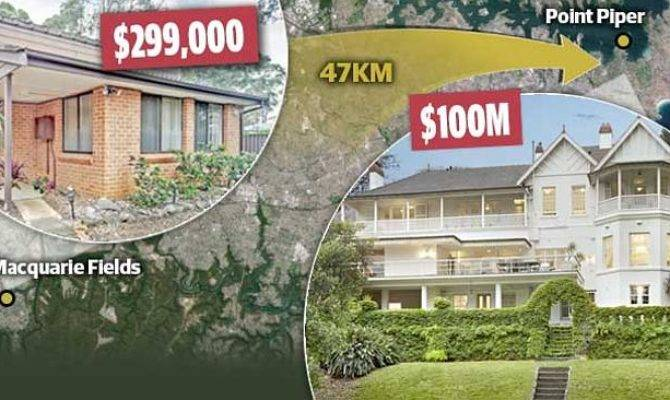 Tale Two Houses Sydney Cheapest Most Expensive Properties