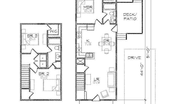 Tall Skinny House Plans